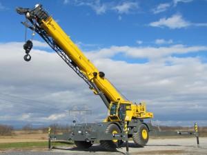 70t rough terrain Grove mobile crane hire Perth WA