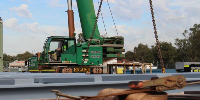 4 Crane lift Pindan Switch Rooms 118