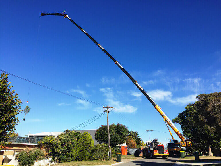 20t long reach crane hire Perth