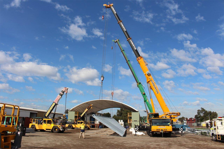 Mine site construction cranes Western Australia
