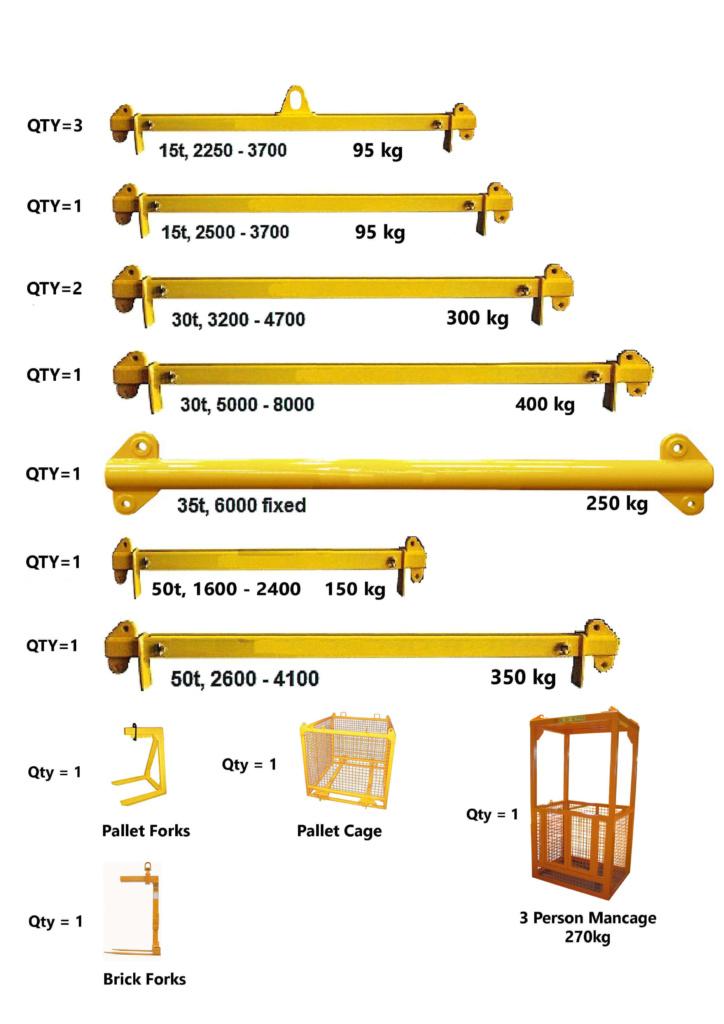 Spreader Bars Perth. Crane lifting equipment hire Perth