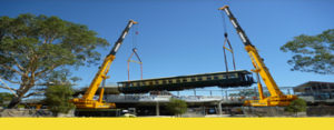 Two crane tandem lift for extra heavy lifting projects Perth WA