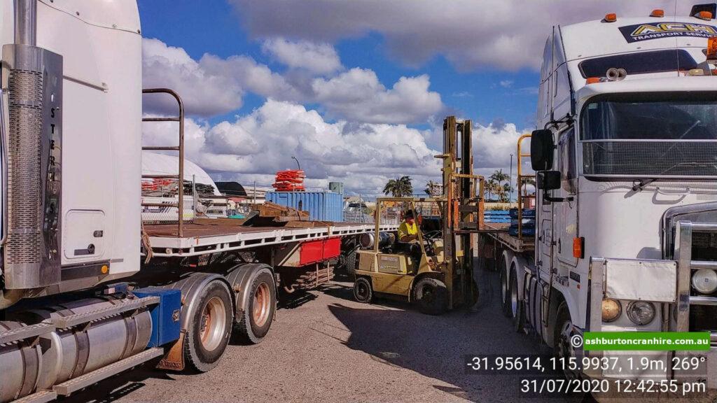 Logistics company Perth forklift